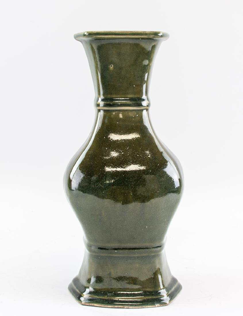 Chinese Porcelain Dark Green Porcelain Vase