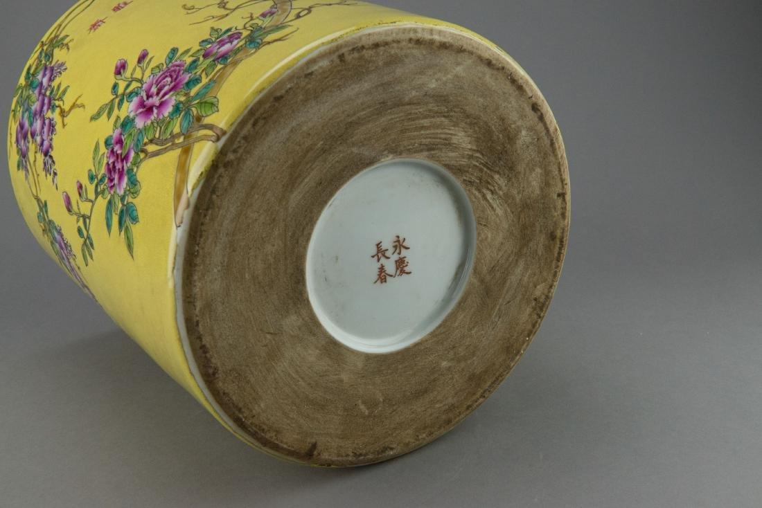 Chinese Pomegranate Dayazhai Porcelain Brushpot - 3
