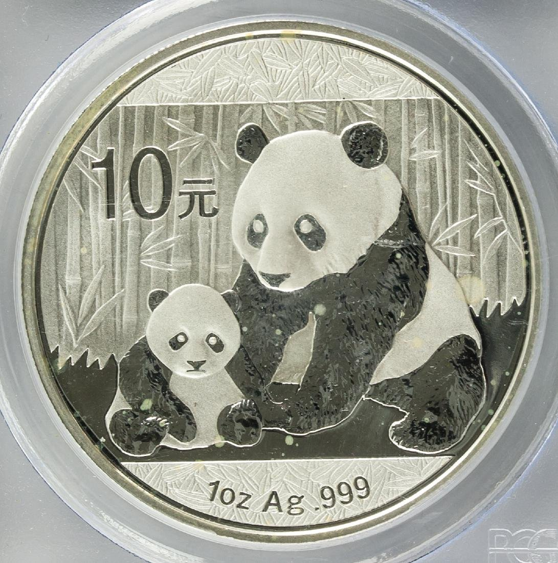 2012 Chinese 10 Dollar Panda Silver Coin PCGS MS70 - 3
