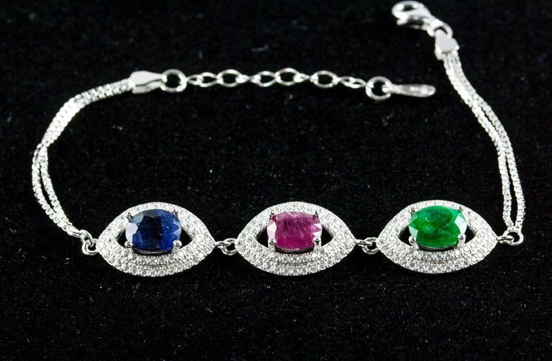 4.50ct Ruby, Sapphire & Emerald Bracelet CRV $890