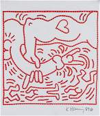KEITH HARING American 1958-1990 Marker on Paper