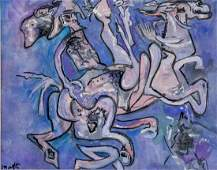 ROBERTO MATTA Chilean 19112002 Gouache on Paper