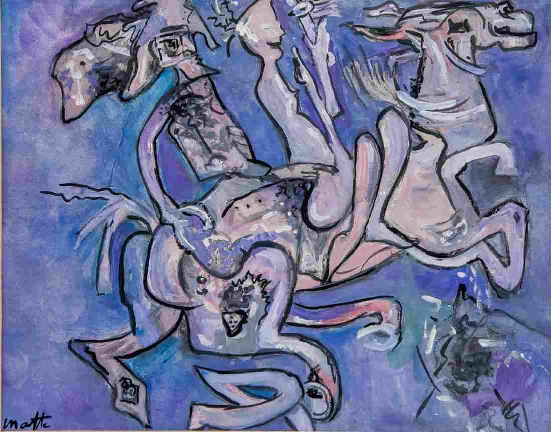 ROBERTO MATTA Chilean 1911-2002 Gouache on Paper