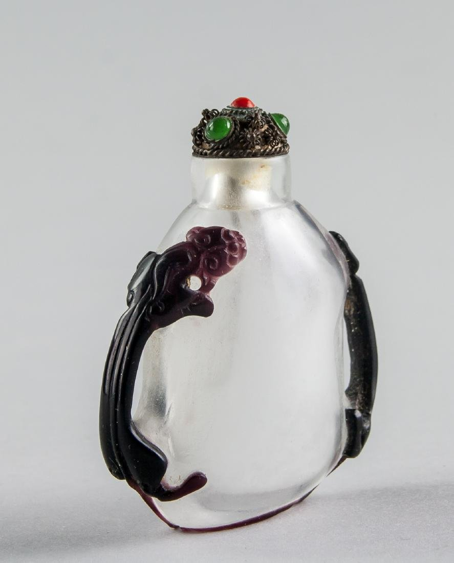 Chinese Peking Glass Beast Snuff Bottle - 2