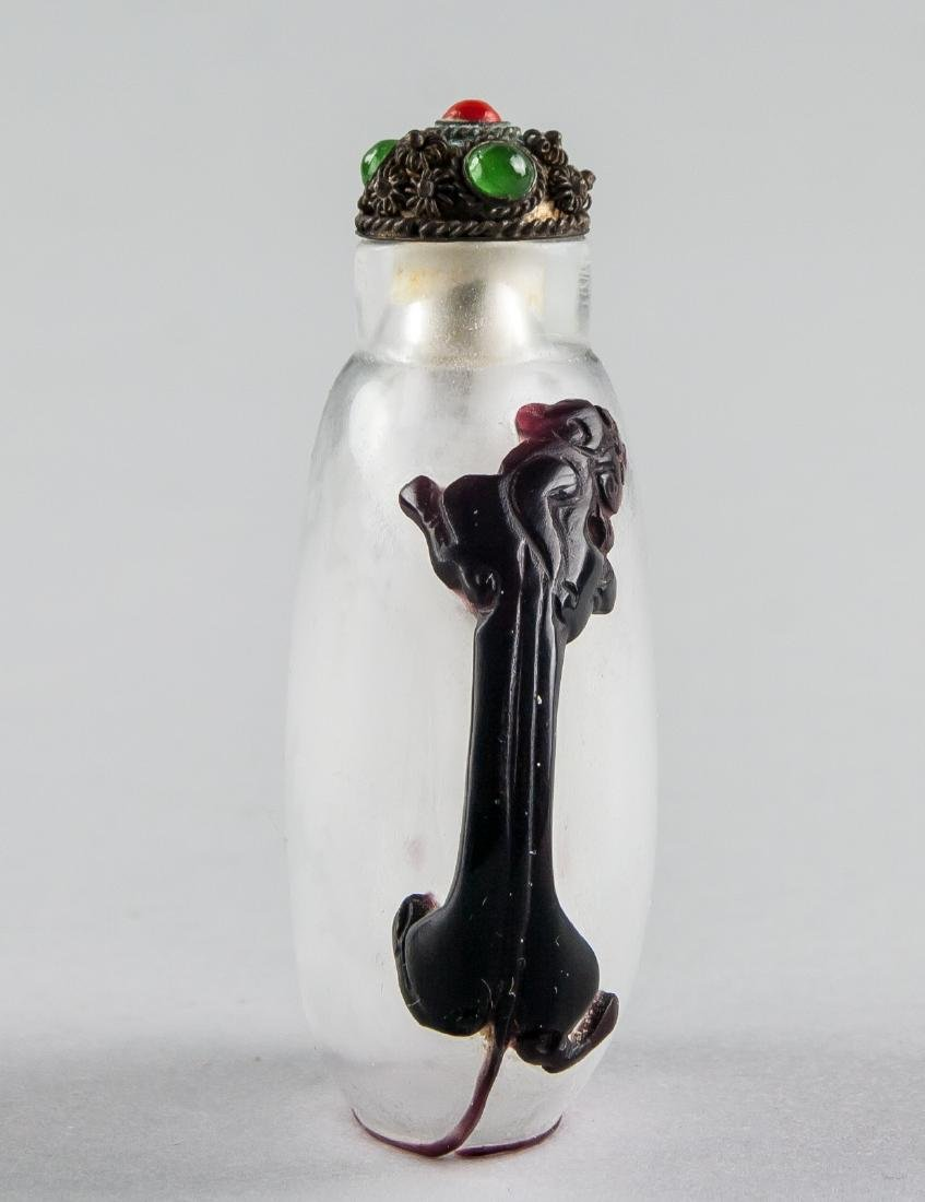 Chinese Peking Glass Beast Snuff Bottle - 3
