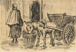 VINCENT VAN GOGH Dutch 1853-1890 Charcoal on Paper