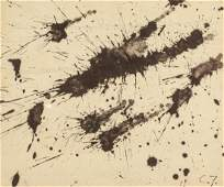 CY TWOMBLY American 1928-2011 Mixed Media on Paper