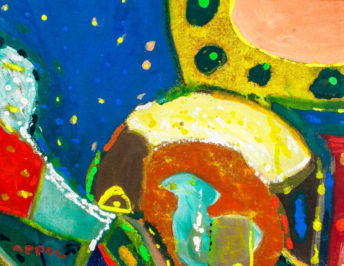 KAREL APPEL Dutch 1921–2006 Oil on Canvas Abstract