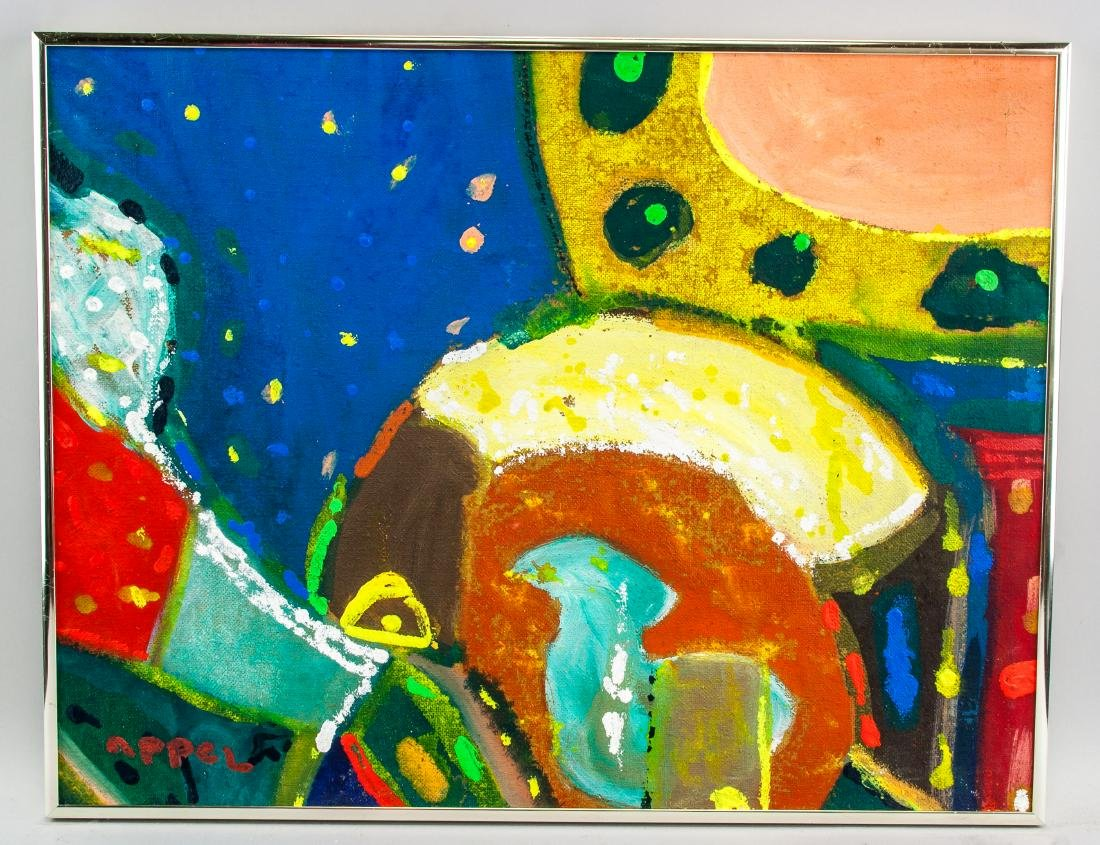 KAREL APPEL Dutch 1921–2006 Oil on Canvas Abstract - 2