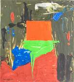 HANS HOFMANN American 18801966 Oil Abstract
