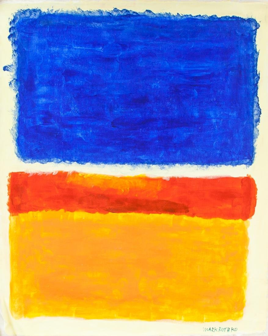 MARK ROTHKO US 1903-1970 Oil on Canvas Abstract