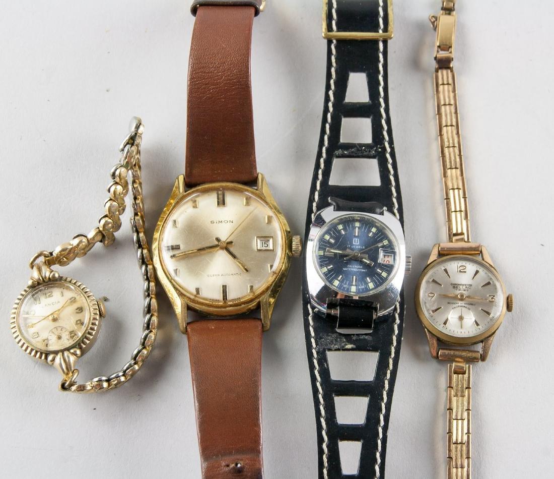 Four Pieces Vintage Ladies & Men's Watches