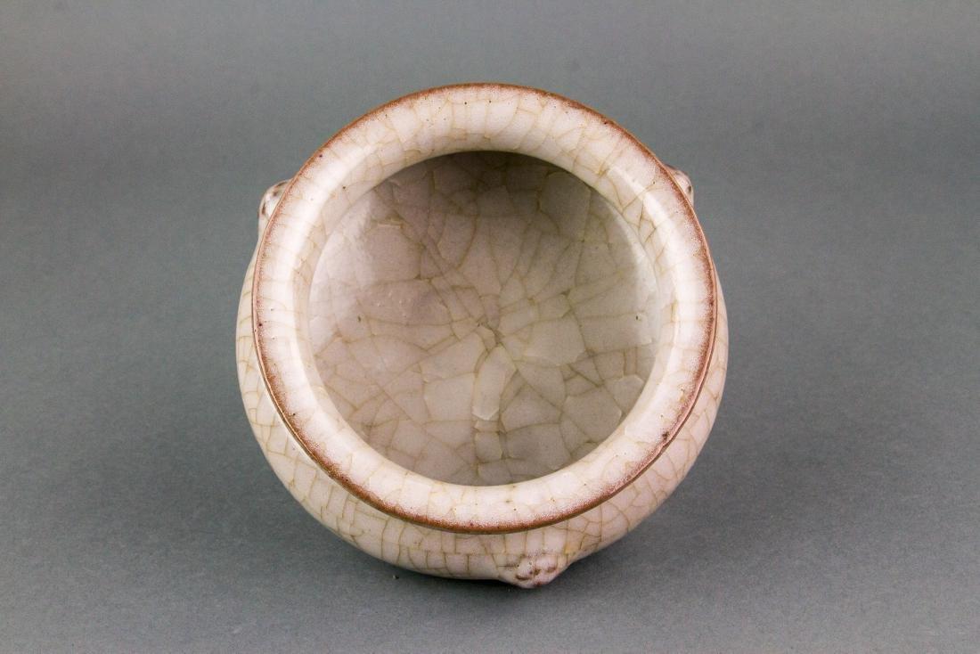 SONG/YUAN Style Geyao Porcelain Tripod Censer - 3