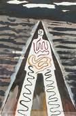 MAN RAY American 1890-1976 Acrylic on Paper