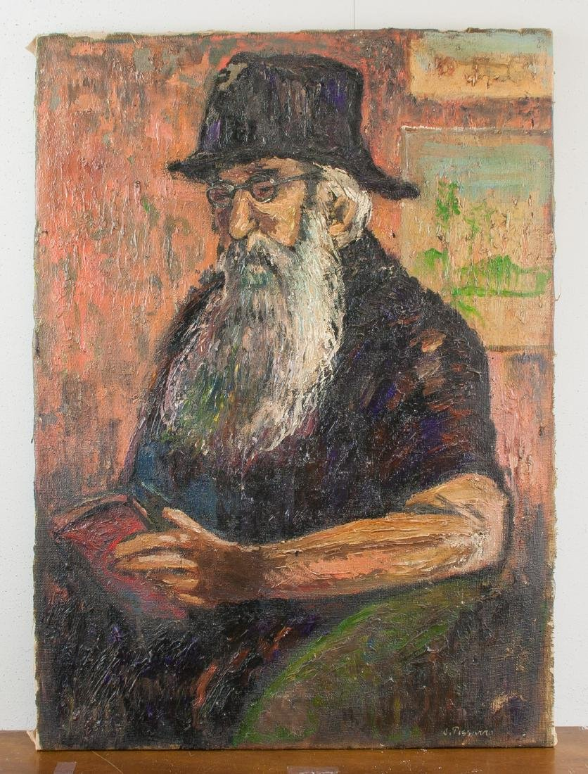 CAMILLE PISSARRO French 1830-1903 OOC Portrait Man - 2