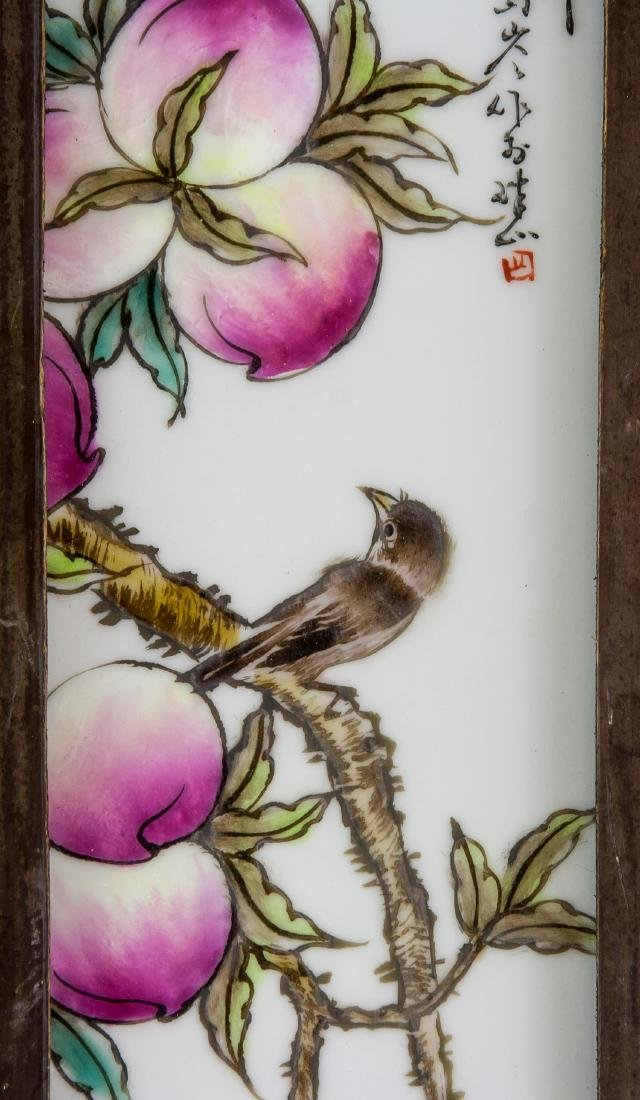LIU YUCEN Pair China Famille Rose Porcelain Plaque - 4