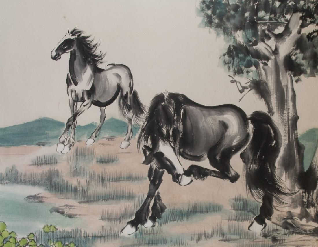 XU BEIHONG Chinese 1895-1953 Watercolor Paper Roll - 3