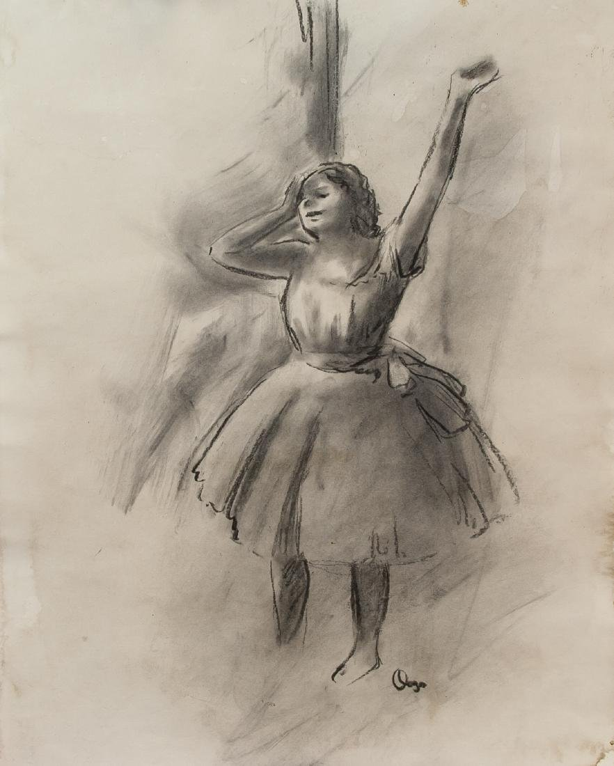EDGAR DEGAS French 1834-1917 Charcoal on Paper