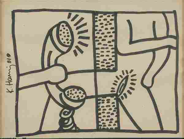 KEITH HARING American 1958-1990 Ink PROVENANCE