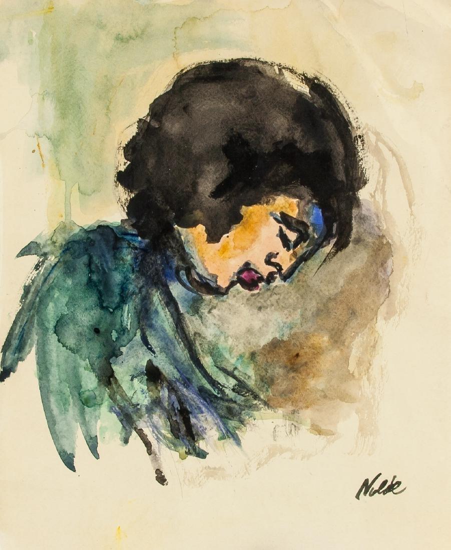EMIL NOLDE German 1867-1956 WC on Paper