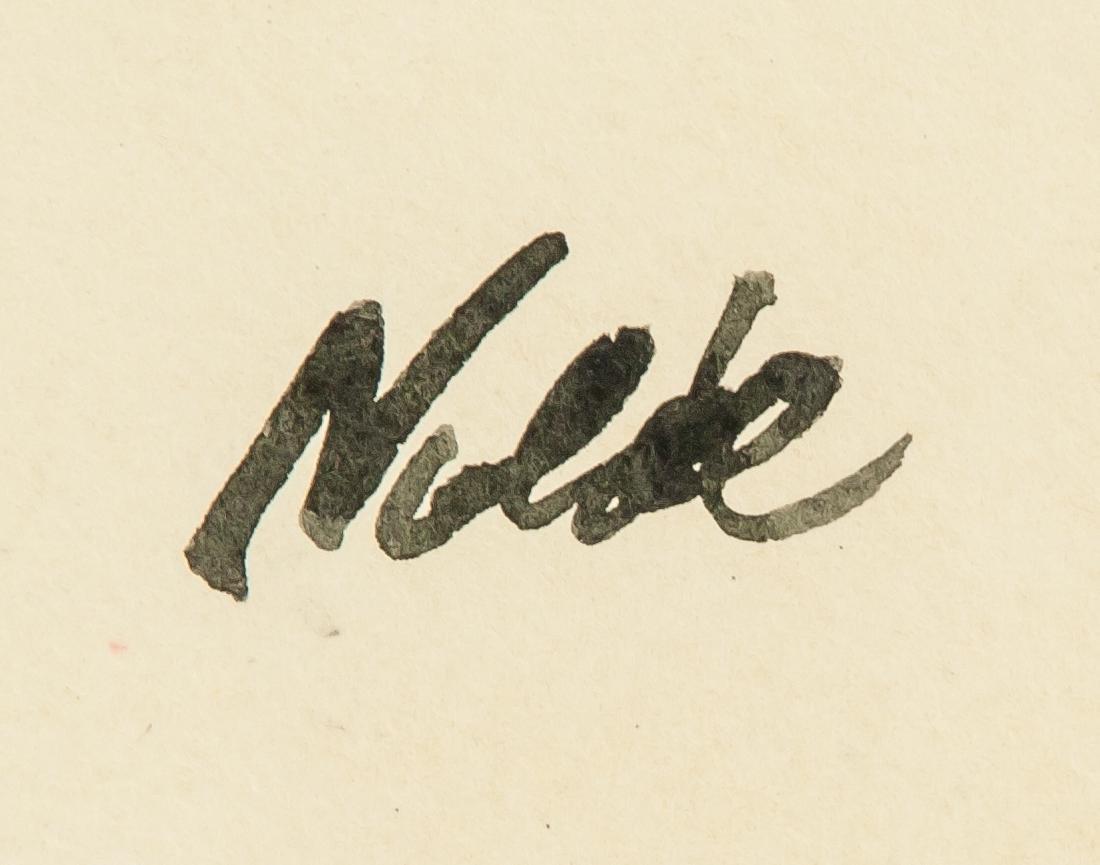 EMIL NOLDE German 1867-1956 WC on Paper - 4