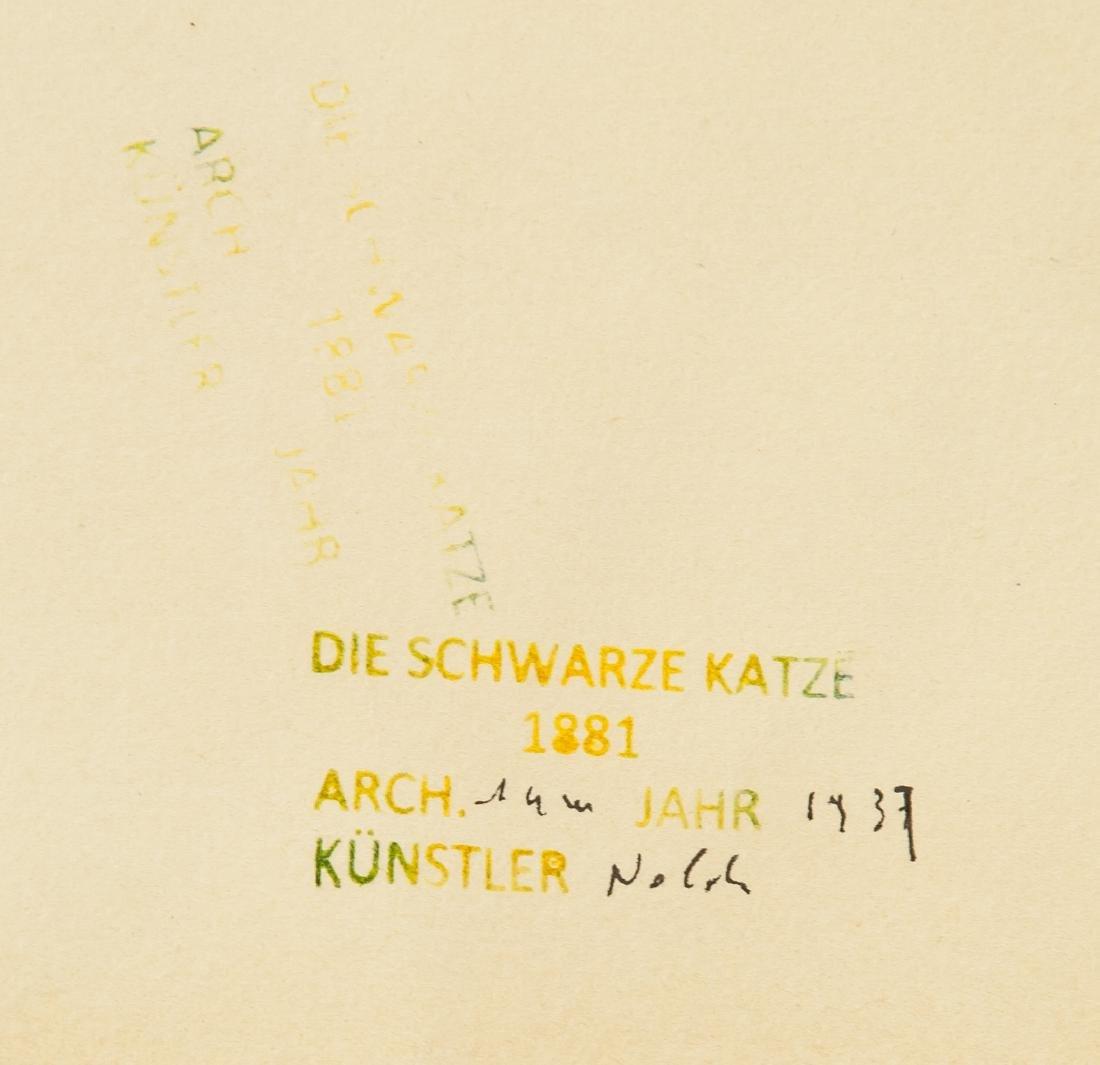 EMIL NOLDE German 1867-1956 WC on Paper - 6
