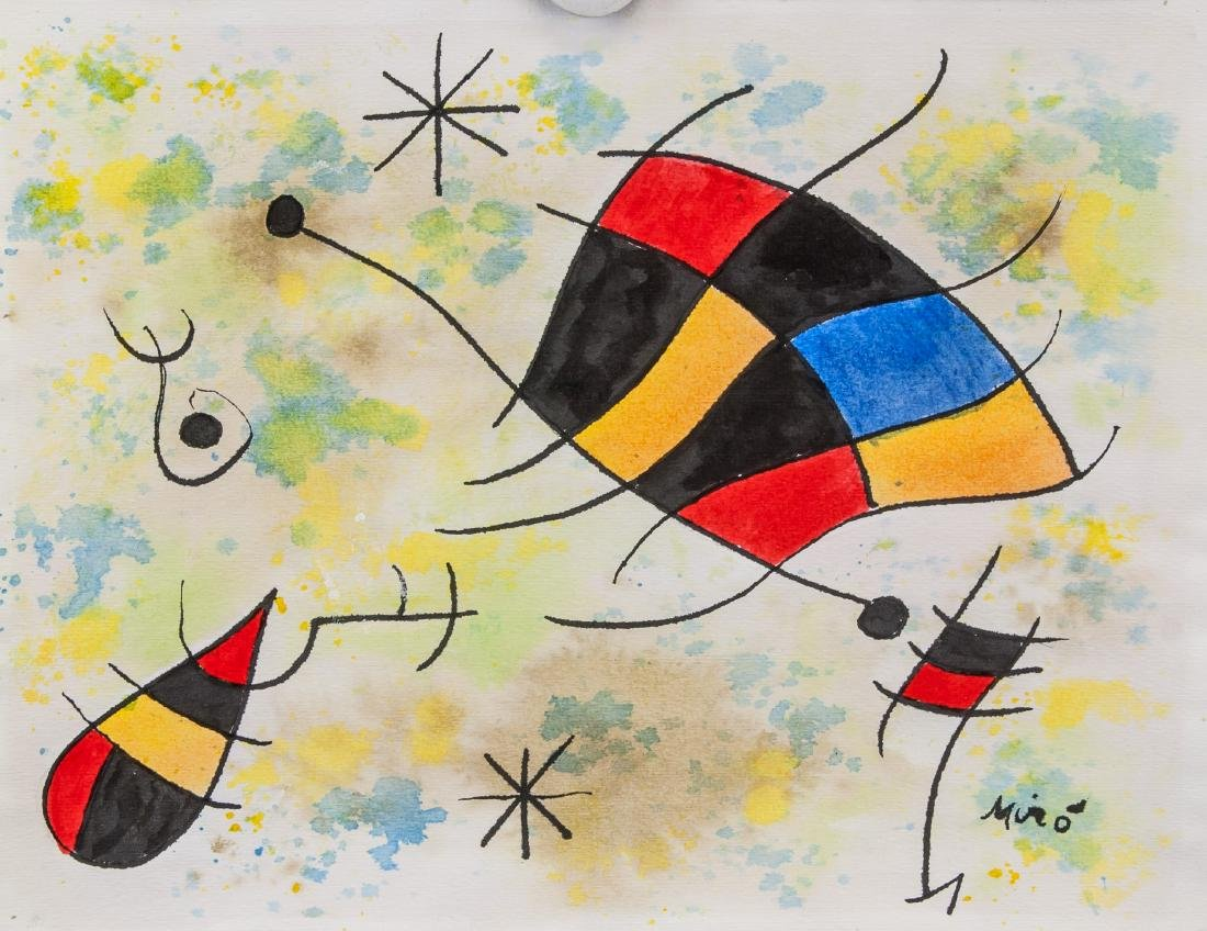 JOAN MIRO Spanish 1893-1983 Watercolor on Paper