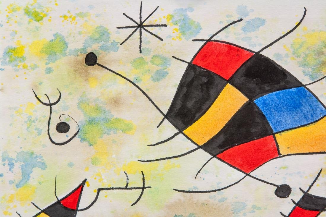 JOAN MIRO Spanish 1893-1983 Watercolor on Paper - 3