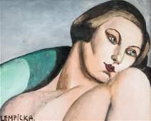 TAMARA DE LEMPICKA Polish 1898-1980 Gouache Woman