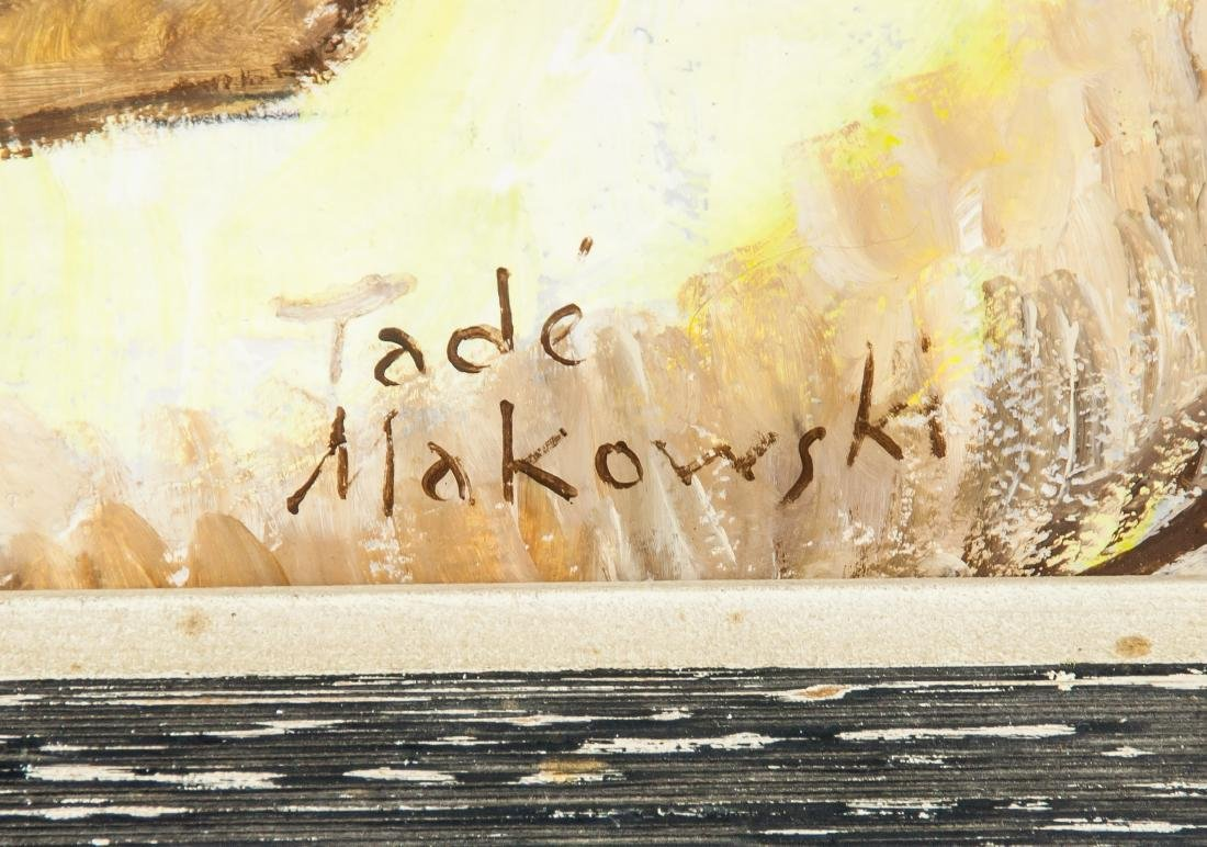 TADEUSZ MAKOWSKI Polish 1882-1932 OOB Portrait - 4