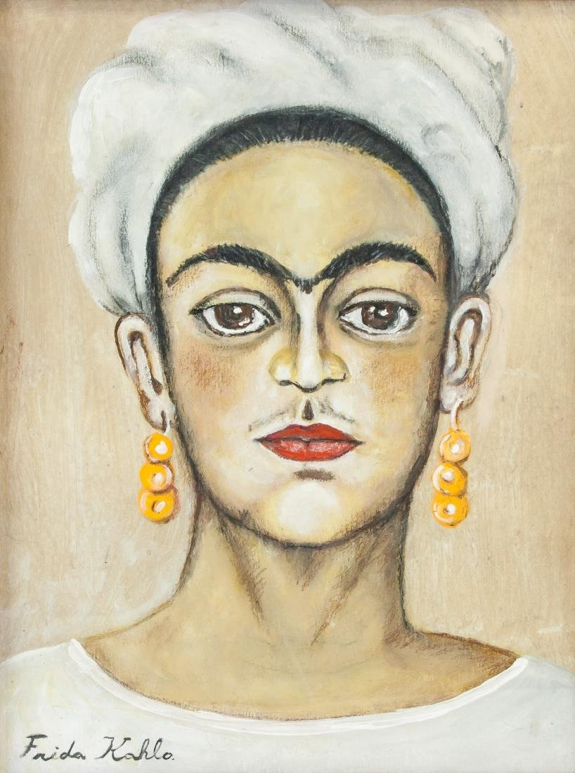 FRIDA KAHLO Mexican 1907-1954 Mixed Media on Paper