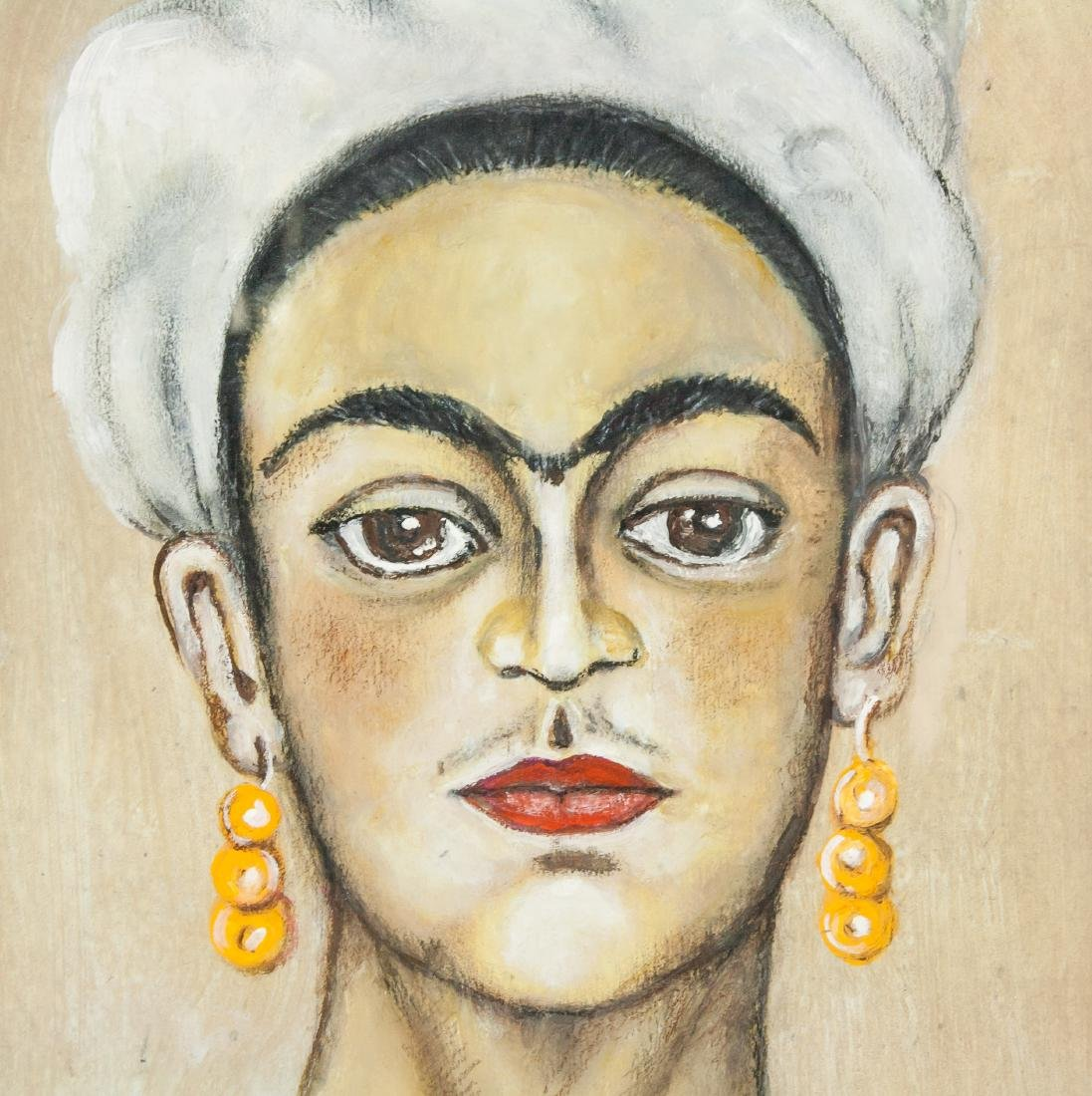 FRIDA KAHLO Mexican 1907-1954 Mixed Media on Paper - 3