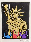 KEITH HARING US 1958-1990 Statue of Liberty 1984