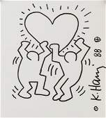 KEITH HARING US 1958-1990 Marker/Paper PROVENANCE