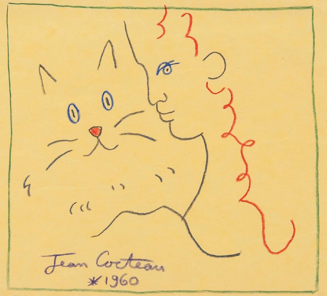 JEAN COCTEAU French 1889-1963 Crayon on Paper