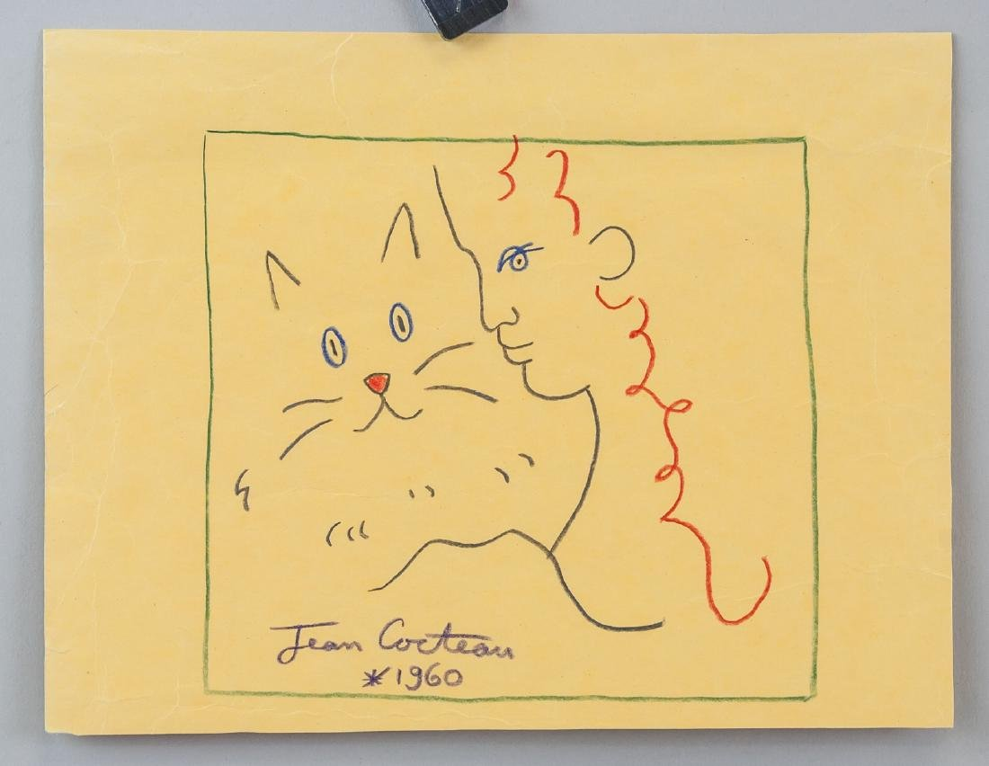 JEAN COCTEAU French 1889-1963 Crayon on Paper - 2