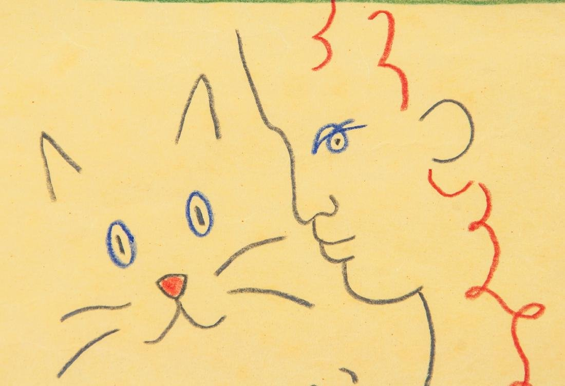 JEAN COCTEAU French 1889-1963 Crayon on Paper - 3
