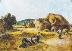 LEON AUGUSTIN LHERMITTE French 18441925 Tempera