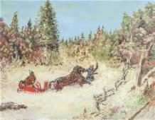 JOHN E. Canaidan XX Winter Landscape Oil on Board