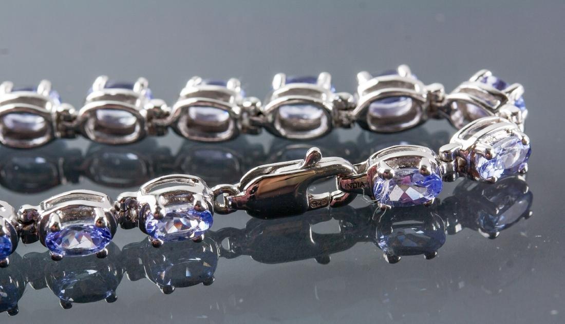6.0ct Tanzanite Bracelet CRV $5375 Certificate - 3