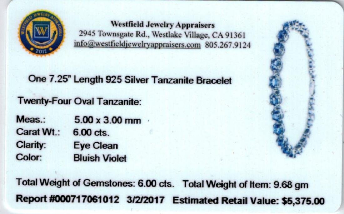 6.0ct Tanzanite Bracelet CRV $5375 Certificate - 4