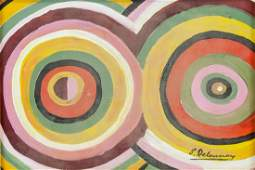 SONIA DELAUNAY French 1885-1979 Oil on Paper