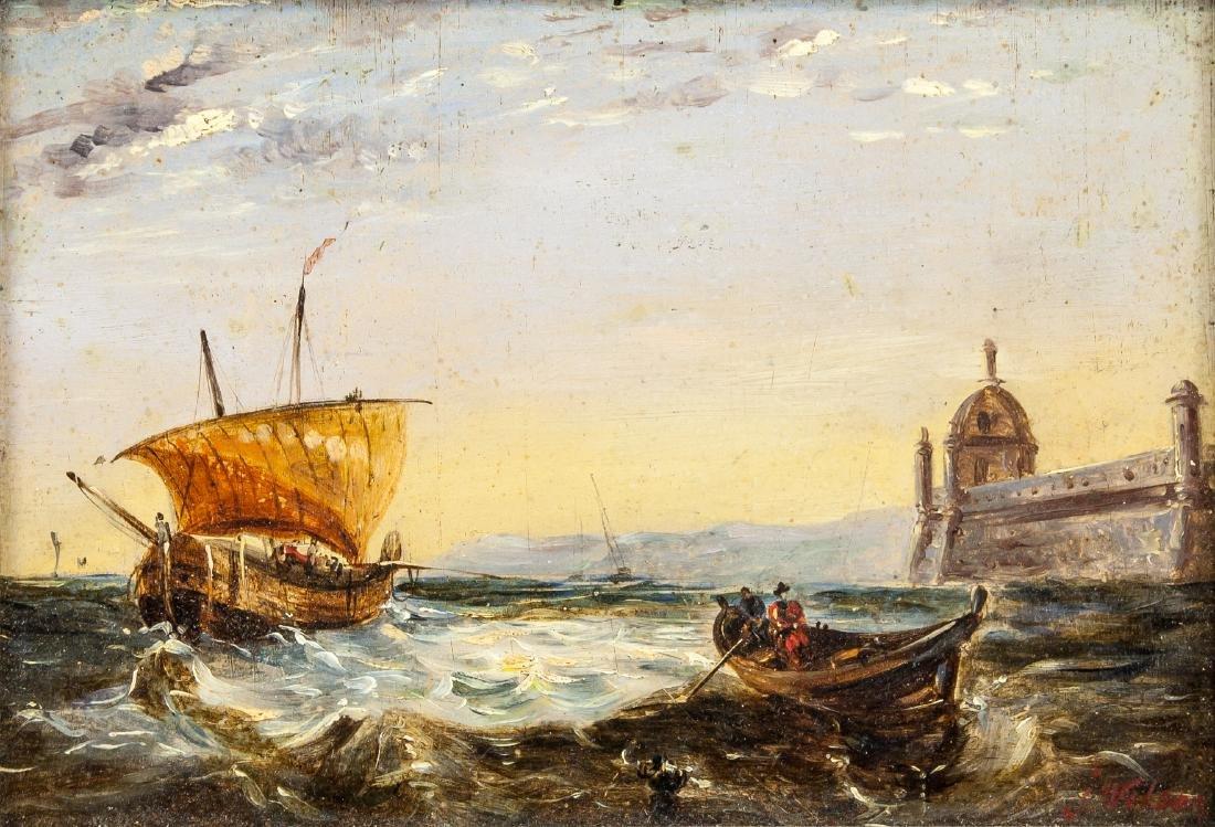 JAMES WILSON JOHN British 1818-1875 Oil on Panel