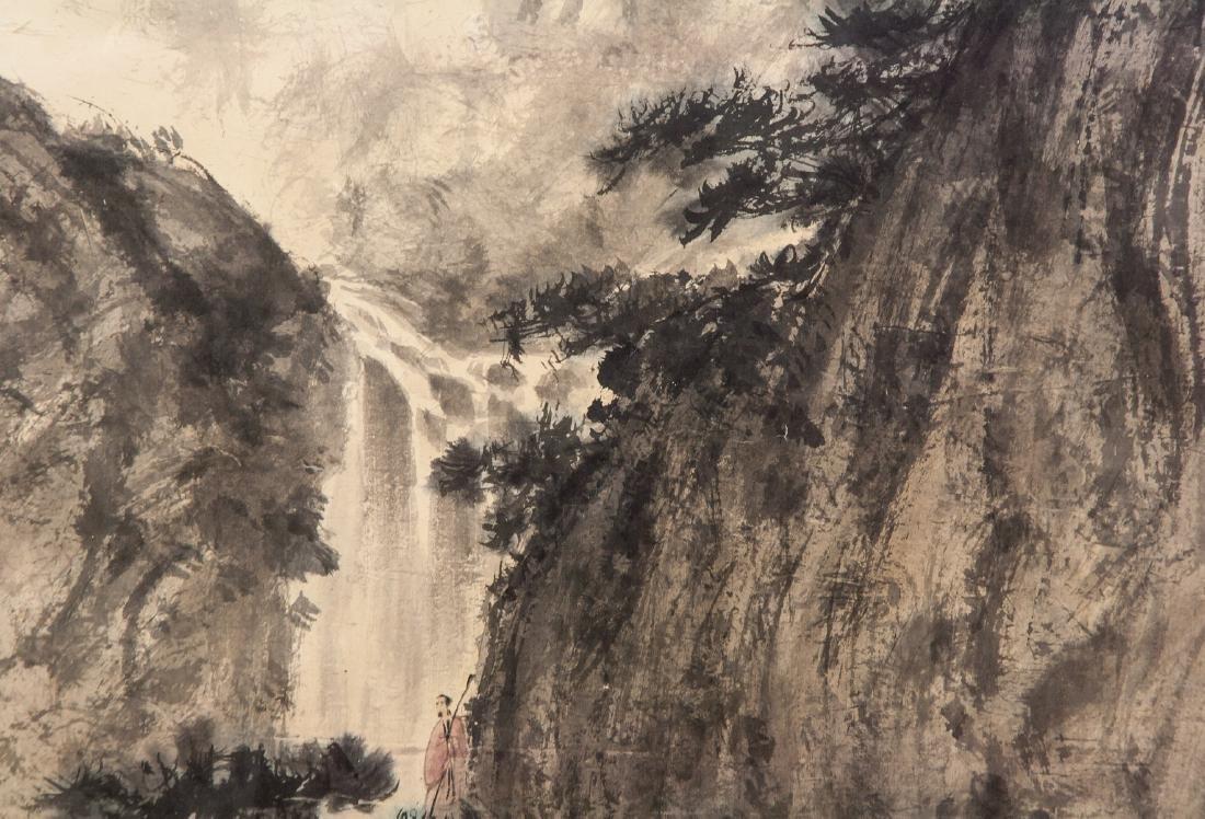 FU BAOSHI Chinese 1904-1965 Watercolor Landscape - 3