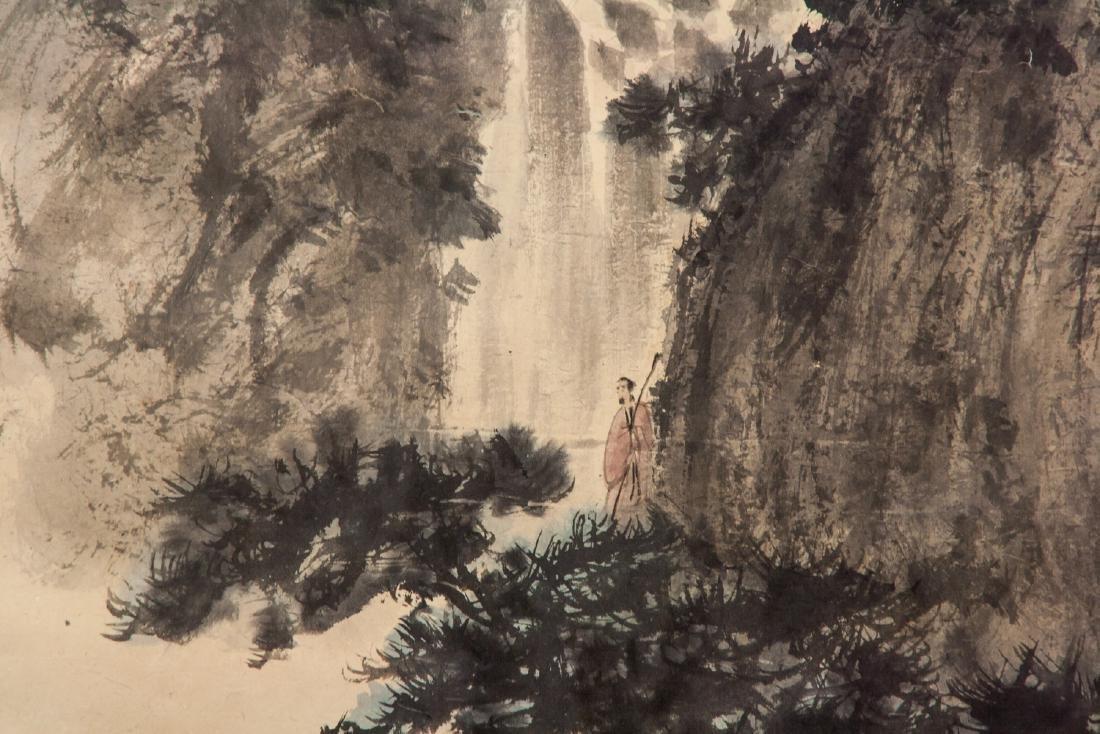 FU BAOSHI Chinese 1904-1965 Watercolor Landscape - 5