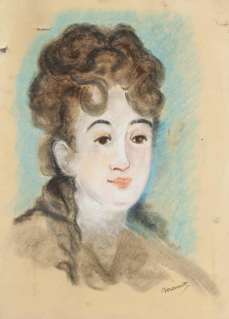EDOUARD MANET French 1832-1883 Gouache on Paper