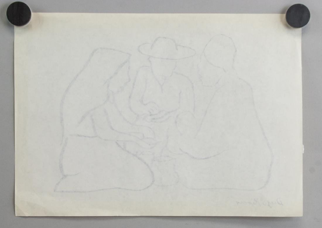 Mexican Ink on Paper Signed Diego Rivera - 5
