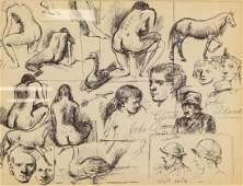 WALT KELLY US 19131973 Pen  Ink Nude