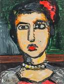 GEORGES ROUAULT French 1871-1958 Oil on Canvas Portrait