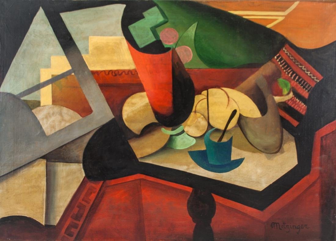 French Oil on Canvas Cubist Signed Metzinger